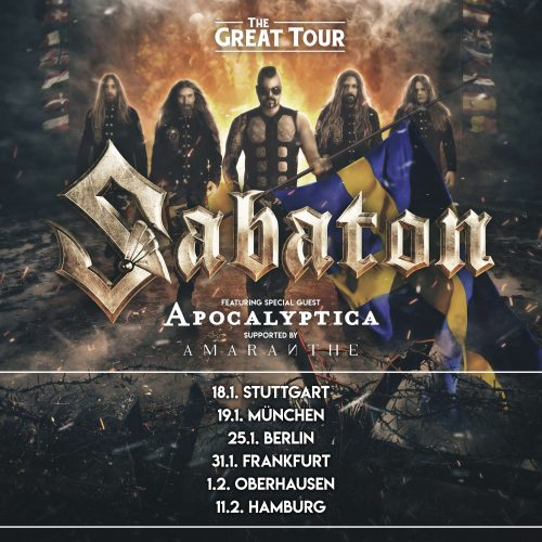 THE GREAT TOUR FEAT. SABATON