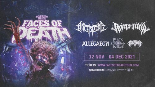 Rising Merch Faces Of Death Tour 2021: RIVERS OF NIHIL + ARCHSPIRE